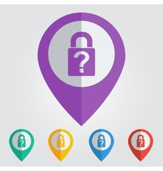 lock question flat vector image