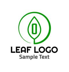 o leaf logo symbol icon sign vector image