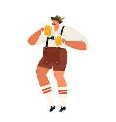 oktoberfest man celebrating party vector image