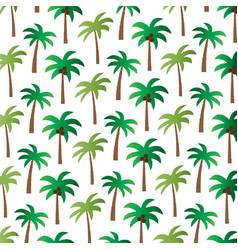 Palm tree pattern on white vector