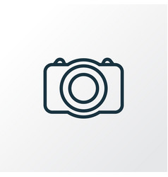 Photo camera outline symbol premium quality vector