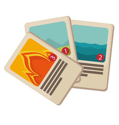playing cards for board game children toys vector image