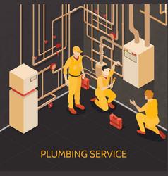 plumbing service team vector image