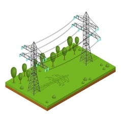 Power Lines Pylons vector