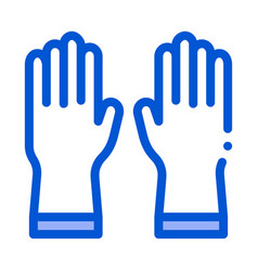protective gloves icon outline vector image