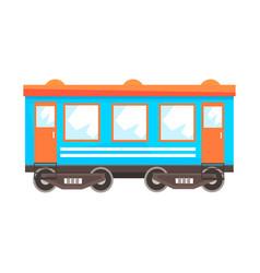 Railway passenger car wagon railway vector