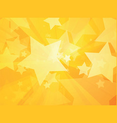 rays and stars yellow background vector image