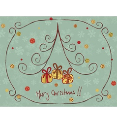 retro christmas card vector image