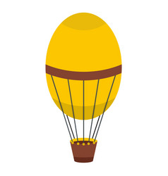 Retro hot air balloon icon isolated vector