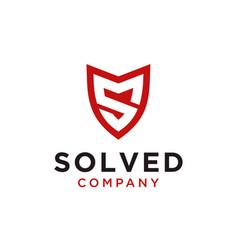 Safe with initial sm logo design vector
