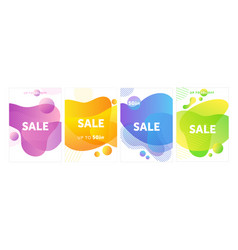 sale advertisement poster templates set vector image