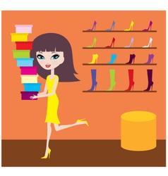 sale in footwear shop vector image