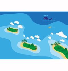 Sea scape vector