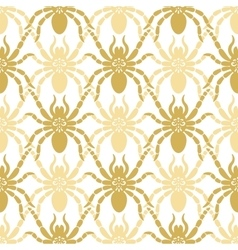 Seamless modern pattern with spiders vector