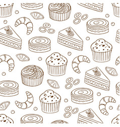 seamless pattern with bread 4 vector image