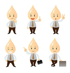 Set businessman cartoon character vector