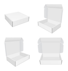 Set mailing paper boxes with various views vector