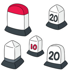 Set of milestone vector