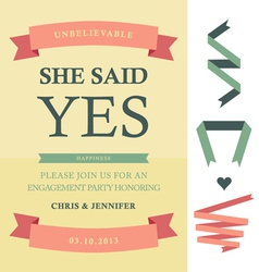 She said yes vector image