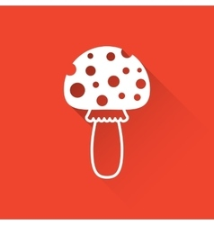 Simple amanita flat icon vector image