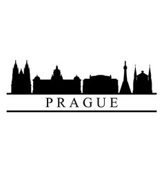 skyline prague vector image
