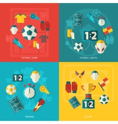 Soccer icons flat vector image