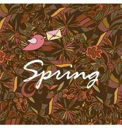 Spring hand lettering and doodles vector