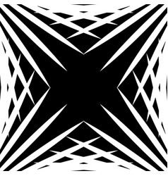Squarish geometric graphic made of pointed lines vector