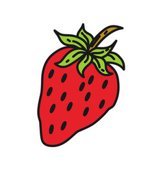 strawberry fruit design template vector image