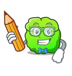 Student shrub character cartoon style vector