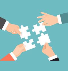 teamwork concept cooperation entrepreneurs in vector image