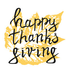 thanksgiving typography hand drawn lettering vector image