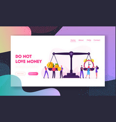 time is money website landing page tiny vector image