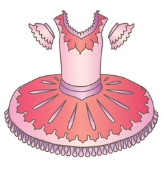 Tutu costume vector image