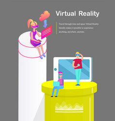 virtual reality phone cell vector image