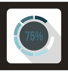 Web preloader 75 percent icon flat style vector image