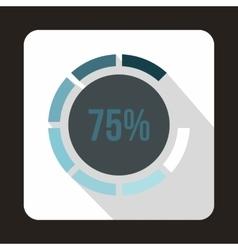 Web preloader 75 percent icon flat style vector