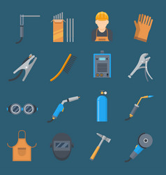 Welding cartoon set vector
