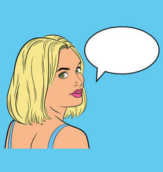 woman in the pop art comics style vector image