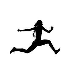 women athlete jumper triple jump vector image