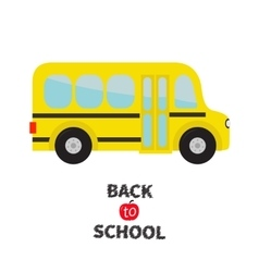 Yellow school bus kids Cartoon clipart vector