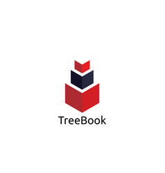 abstract book logo design template vector image vector image