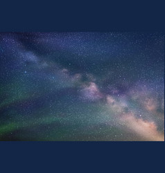 abstract picture with beautiful starry sky milky vector image vector image