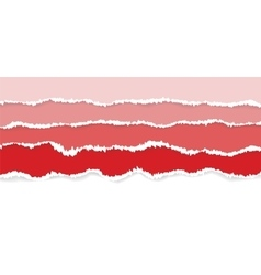 Background of red torn paper vector image