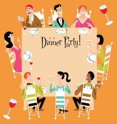 dinner party vector image vector image