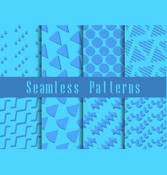 Geometric modern seamless pattern set triangles vector