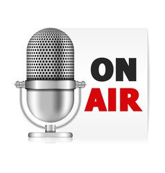 Microphone On Air vector image vector image