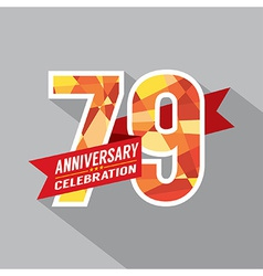 79th years anniversary celebration design vector
