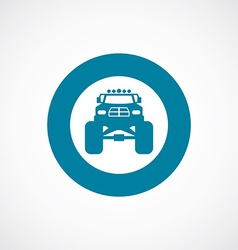 monster car icon bold blue circle border vector image
