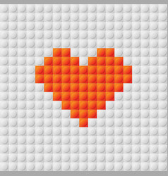 seamless constructor background with heart vector image
